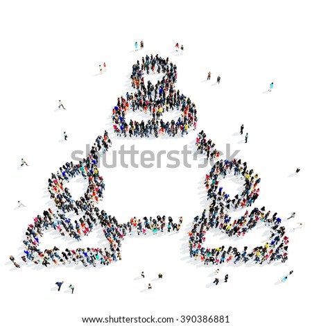 people  men connection icon - stock photo