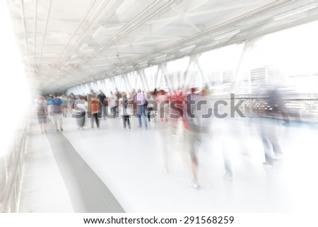 people moving artistic blurred image - stock photo