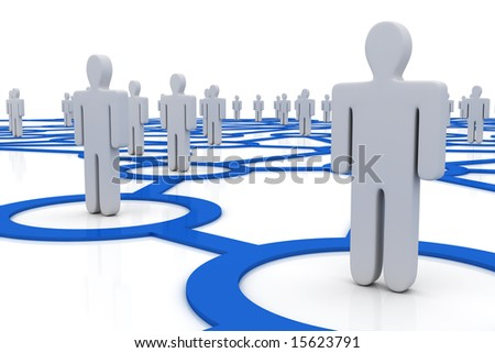 People Network - stock photo