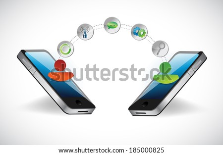 people network connection concept illustration design over a white background