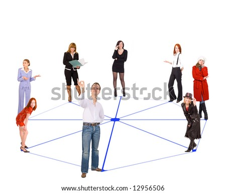 """people network  - See similar images of this """"Business People"""" series in my portfolio - stock photo"""