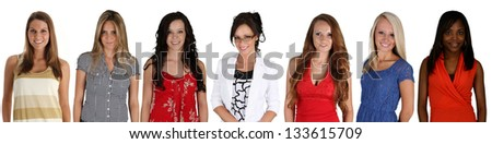 People of all different races and ages - stock photo