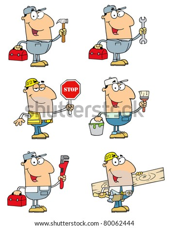 People Of Different Professions-Raster Collection 1. Vector version is also available - stock photo