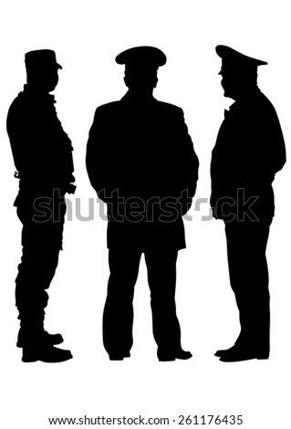 People of special police force on white background - stock photo