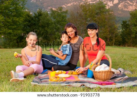 people on picnic