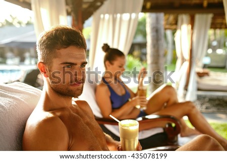 Athletic man afro american woman exercise stock photo for Couples spa weekend getaway