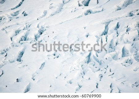 People on the glacier - Spitsbergen, Arctic