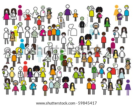 People people people - stock photo