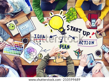 People Planning in a Conference and Innovation Concept - stock photo