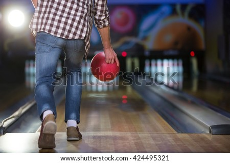 People playing in bowling - stock photo