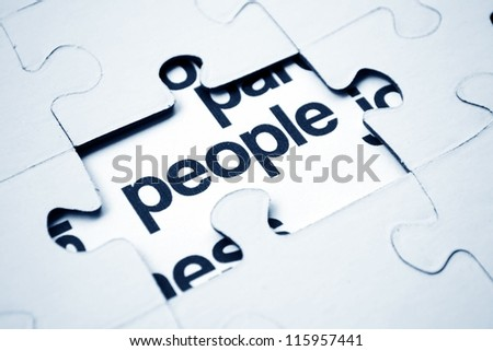 people puzzle concept - stock photo