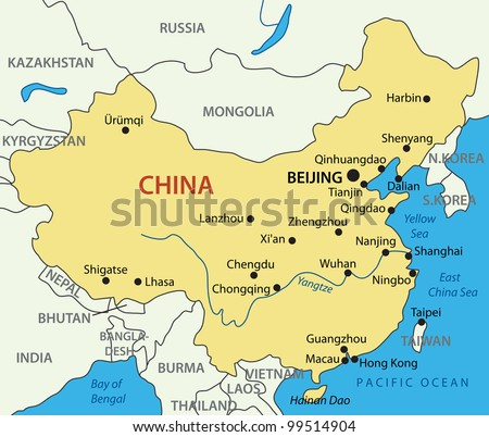 Peoples Republic China Map Stock Illustration Shutterstock - China map