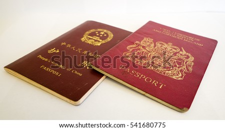 People's Republic of China Passport & The United Kingdom of Great Britain and Northern Ireland Passport