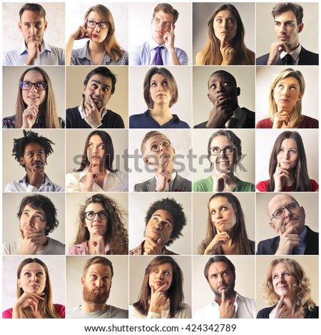 People's thoughts - stock photo