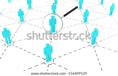 People search on the white background - stock photo