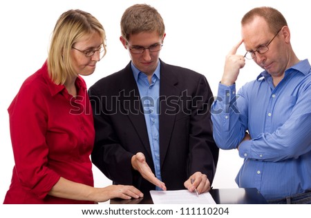 People signing of an agreement