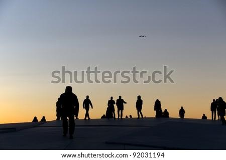 People silhouette - stock photo