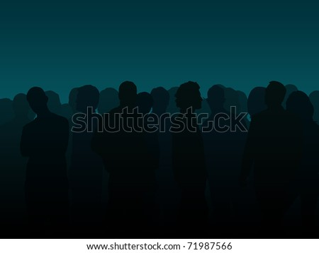 People silhouette illustration - stock photo