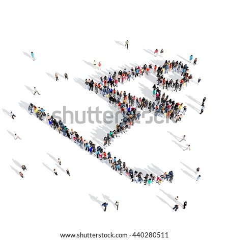 people slalom competition sport 3d - stock photo