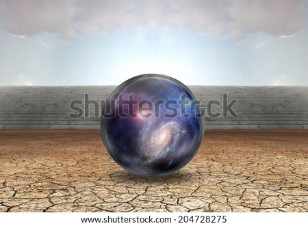 People soaring toward light amongst stars Elements of this image furnished by NASA - stock photo