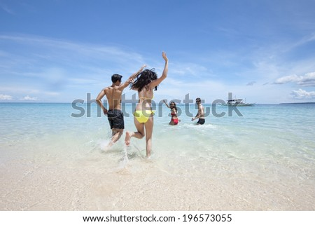 people spending time at the beautiful beach,Boracay in Philippine