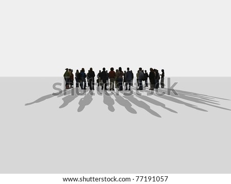people standing in a circle - stock photo