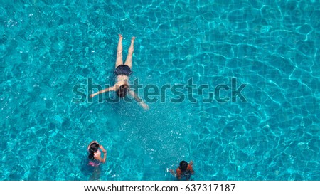 Hotel pool with people  People Swimming Hotel Pool That Have Stock Photo (Edit Now ...