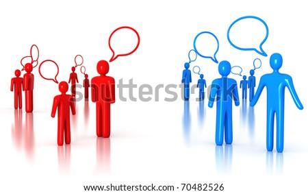 People Talking - stock photo