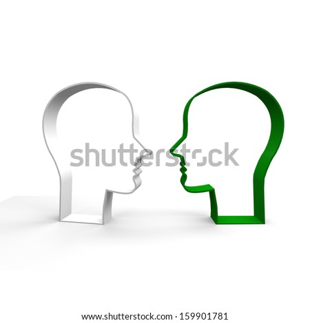 people, talking, discussion,  - stock photo