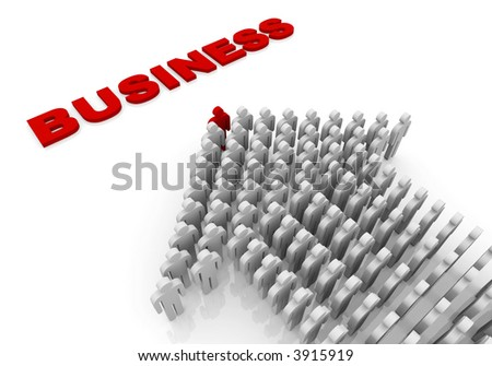 People walk in business - stock photo