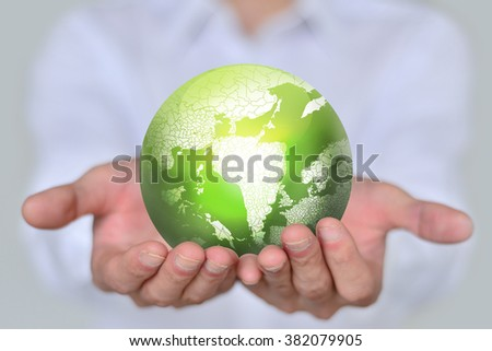 People was holding the earth