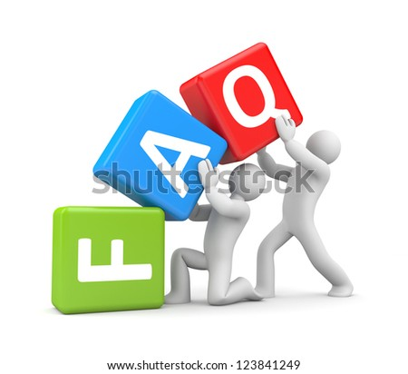 People with Frequently Asked Questions - stock photo