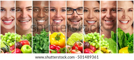 people with fruits and vegetables