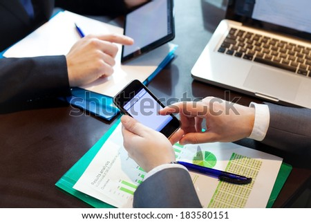 people working in  office - stock photo