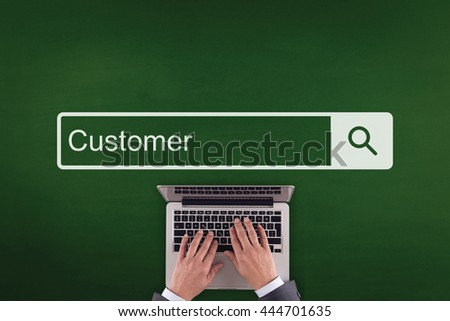 PEOPLE WORKING OFFICE COMMUNICATION  CUSTOMER TECHNOLOGY SEARCHING CONCEPT - stock photo