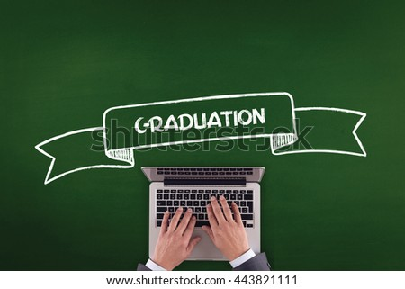 PEOPLE WORKING OFFICE COMMUNICATION  GRADUATION TECHNOLOGY CONCEPT - stock photo