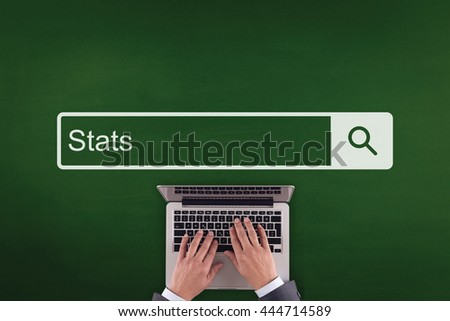 PEOPLE WORKING OFFICE COMMUNICATION  STATS TECHNOLOGY SEARCHING CONCEPT - stock photo