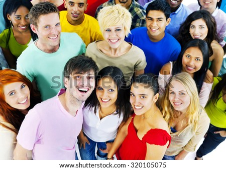 People Youth Culture Together Students Cheerful Concept