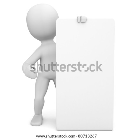 pepe with vertical poster - stock photo