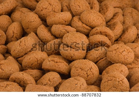 Pepernoten (gingernuts) Dutch biscuits specialty for Sinterklaas holliday on 5 December - stock photo