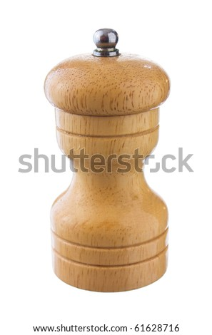 Pepper mill isolated on a white background