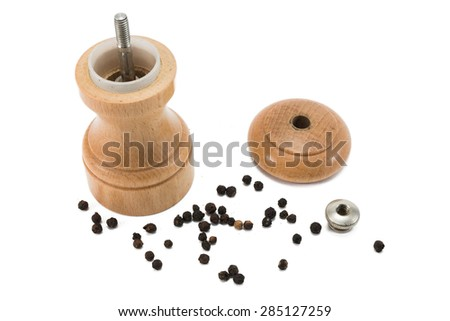 pepper mill ready to be filled - stock photo