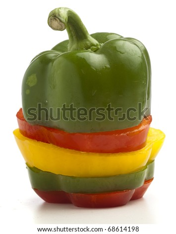pepper mix isolated on a white background - stock photo