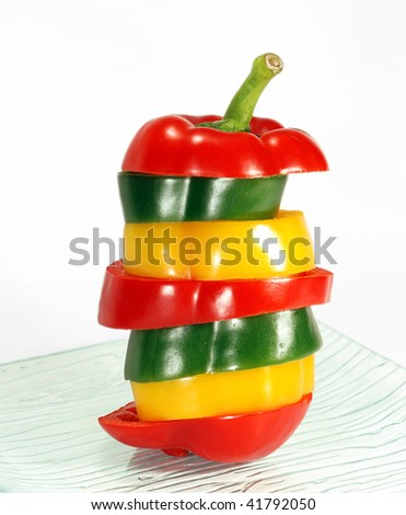 pepper mix on glass plate