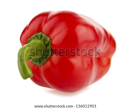 pepper on a white background - stock photo