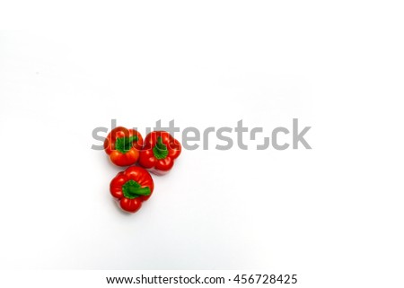 Pepper. Paprika. Isolated. Bell pepper. Red pepper. Close-up. Pepper for cooking blog. - stock photo