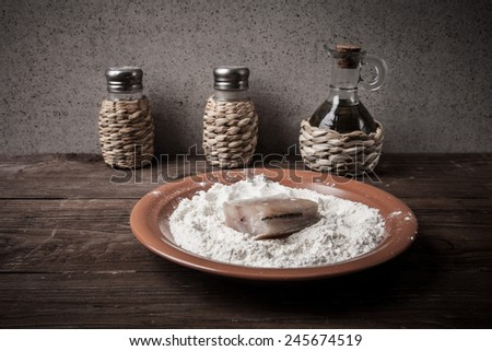 Pepper salt olive oil one piece stock photo 245947186 for Piece of fish