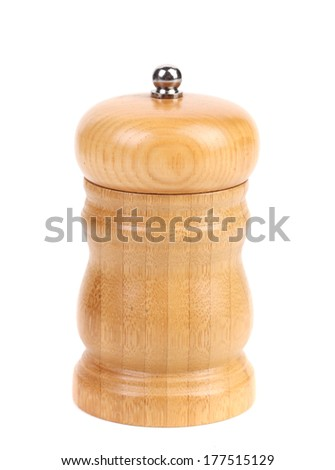 Pepper shaker. Isolated on a white background.
