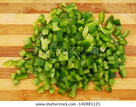 Pepper sliced vegetable - stock photo