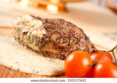 Pepper steak - stock photo